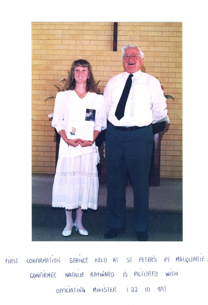 1989 St Peters first confirmation serv K Scholz-Natalie Rayward 22-10-1989