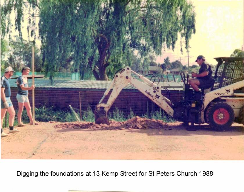 1987 excavating foundations for church 13 Kemp St Oct - Nov 1987