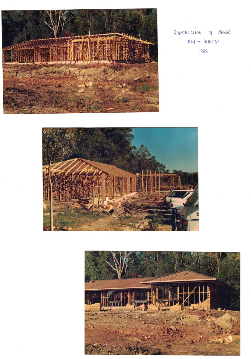 1988 Manse construction May-Aug 1988
