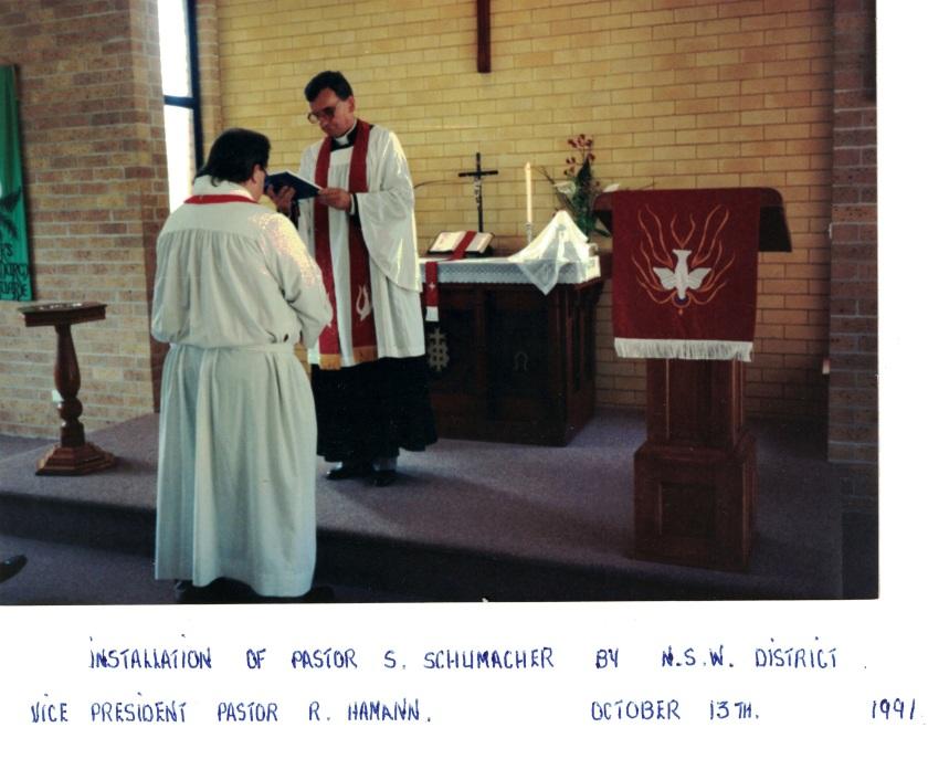 1991 Pr Steve Schuhmacher Installation 13-10-1991