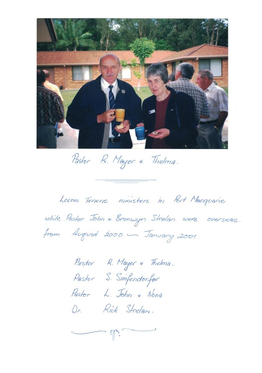 2000 Pr Rolf Meyer Locum